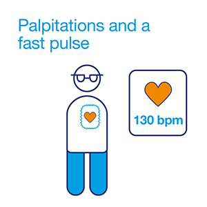 Hypo symptom - palpitations and a fast pulse