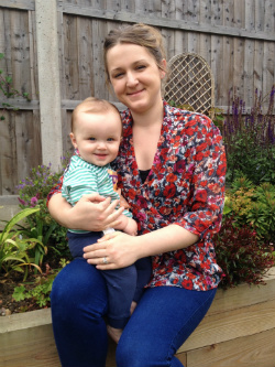 Laura, Diabetes UK artificial pancreas trial participant, and her son Sonny
