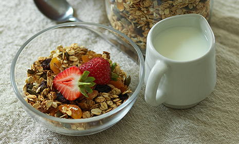 Almond apricot and pumpkin seed granola