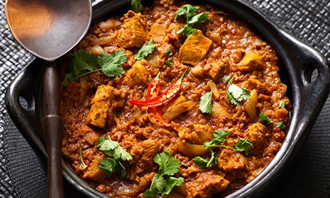 Chicken & lentil curry