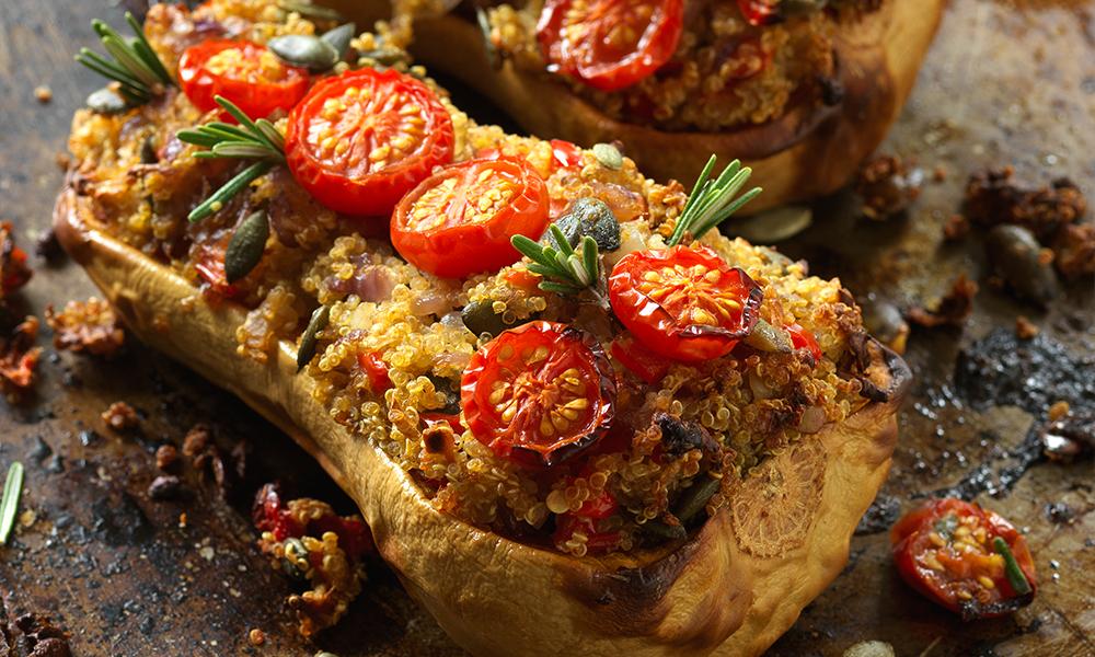 Quinoa stuffed butternut squash diabetes uk quinoa stuffed butternut squash forumfinder Image collections