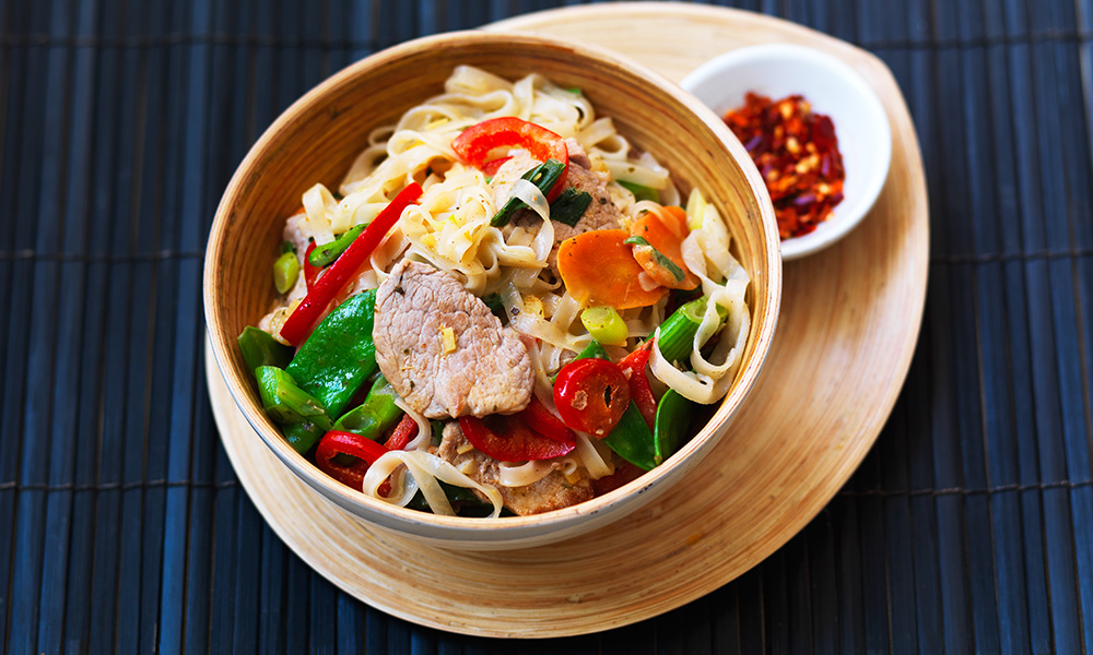 Thai style noodles with gingered pork diabetes uk thai style noodles with gingered pork forumfinder Images