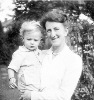Peter with his mum a few months before diagnosis