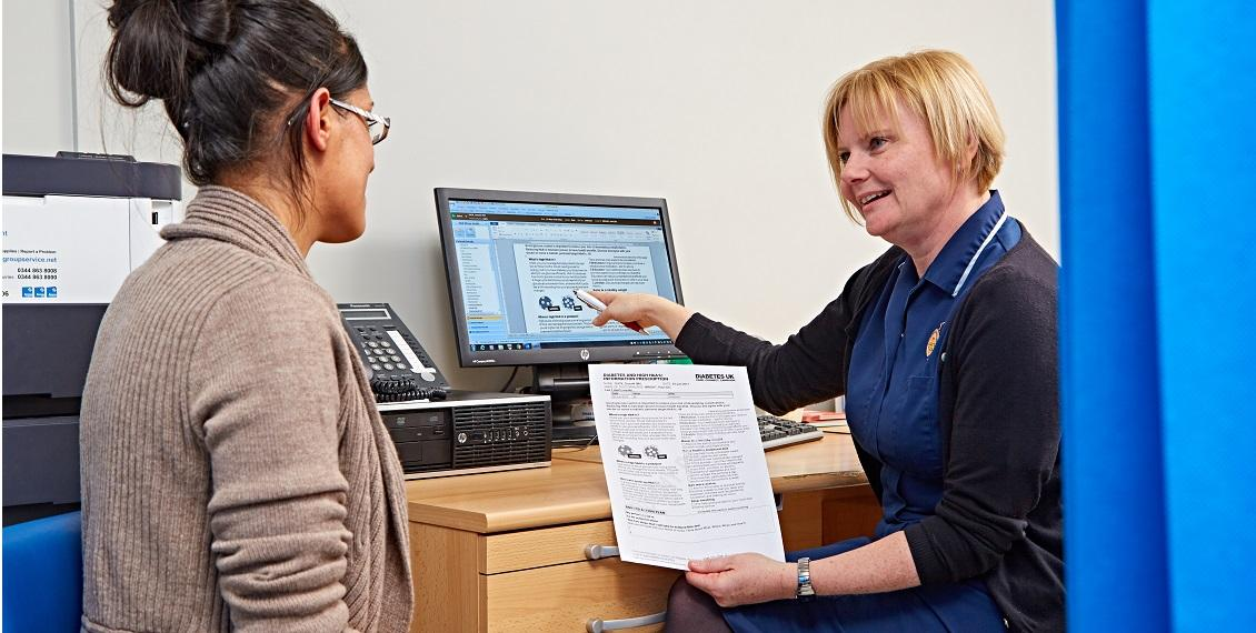 Nurse using information prescriptions