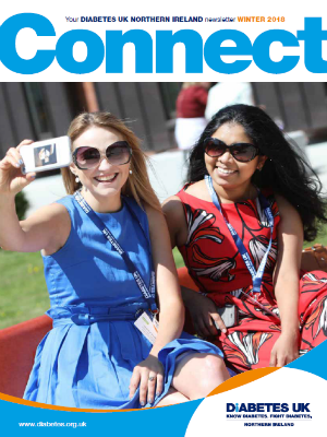 Cover of Connect magazine, two ladies taking a selfie