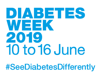 Diabetes Week 2019, 10 to 16 June #SeeDiabetesDifferently