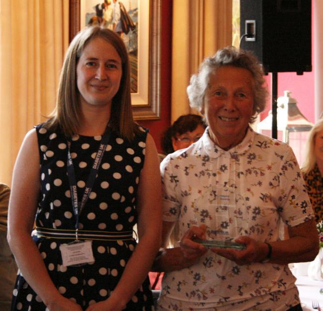 Naomi Pullin presents award to Rose Lester