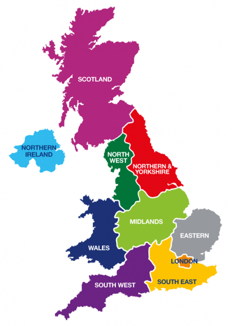 Map Of England Showing Yorkshire.In Your Area Diabetes Uk